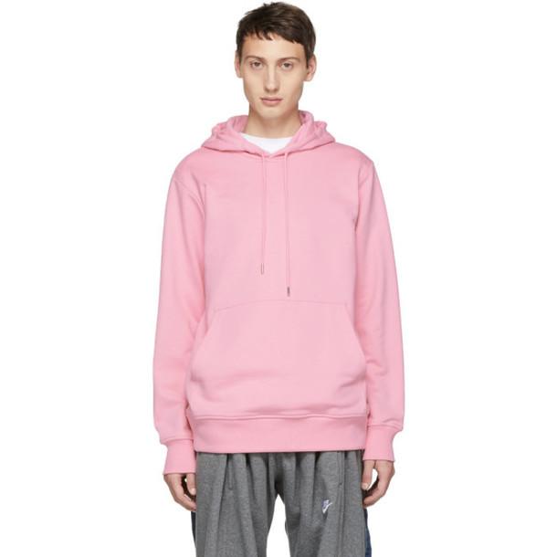 Helmut Lang Reversible Pink Jeremy Deller Hoodie
