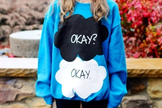 sweater blue sweater the fault in our stars
