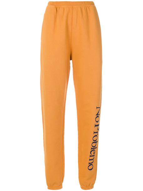 Aries No Problemo track pants - Yellow & Orange
