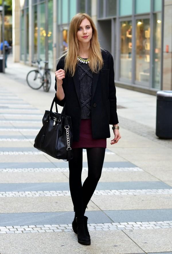 vogue haus sweater skirt coat shoes jewels bag