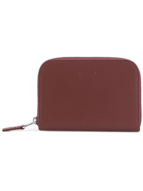 PB zip women purse leather red bag