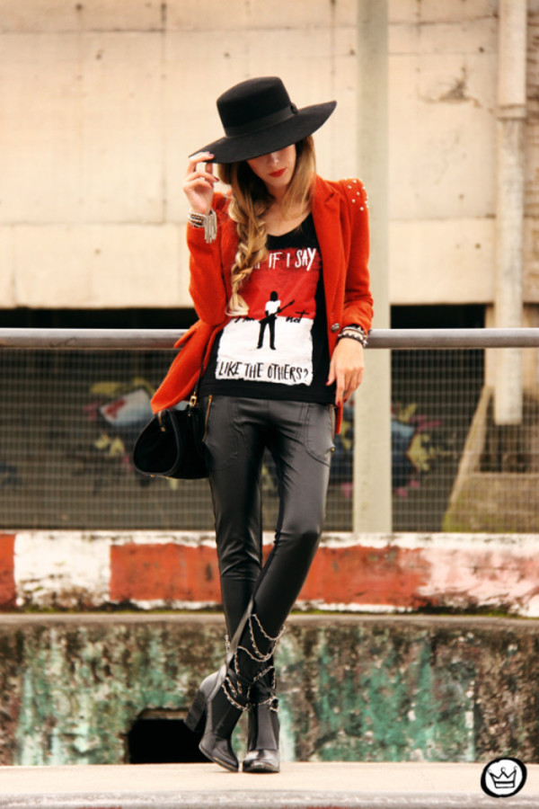 fashion coolture t-shirt jacket leggings bag shoes