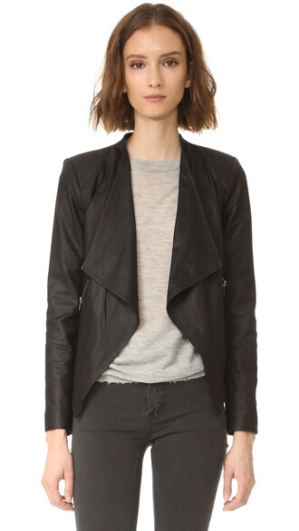 jacket leather jacket soft leather black