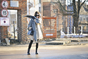 shiny sil,blogger,coat,scarf,tights,shoes,jewels,sunglasses,gloves,dress,bag
