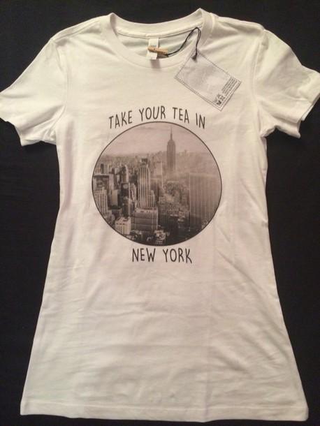 t-shirt white t-shirt new york city women t shirts fashion love