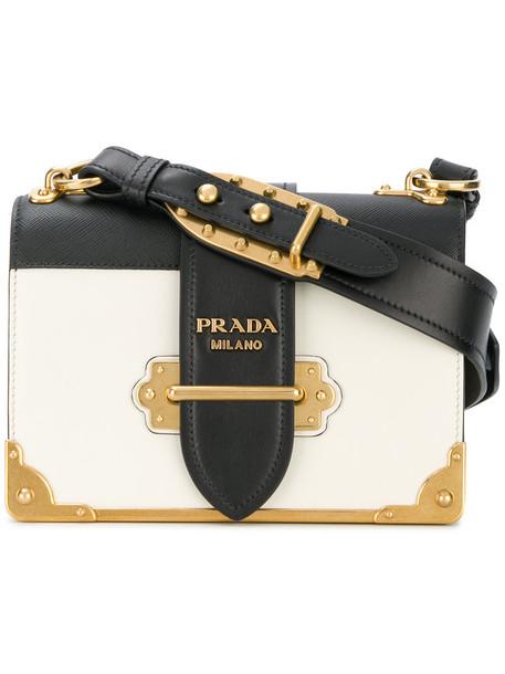 Prada women bag shoulder bag leather white