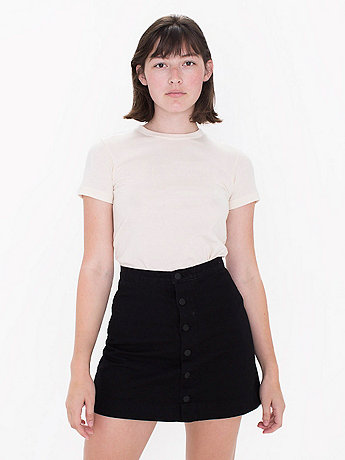Front Denim A-Line Skirt | American Apparel