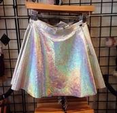streetwear,skirt,transparent skirt,cyber ghetto,tumblr skirt,style,holographic,kawaii grunge