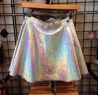 streetwear skirt transparent skirt cyber ghetto tumblr skirt style holographic kawaii grunge