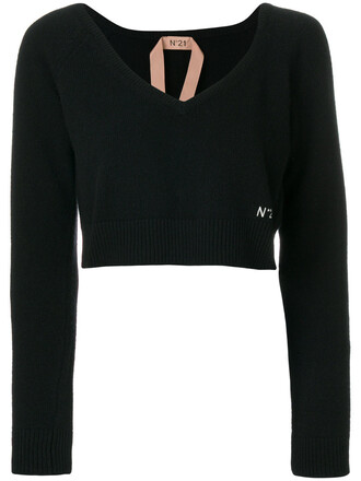 sweater women black wool
