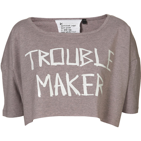 Trouble Maker Crop By Tee And Cake - Topshop - Polyvore