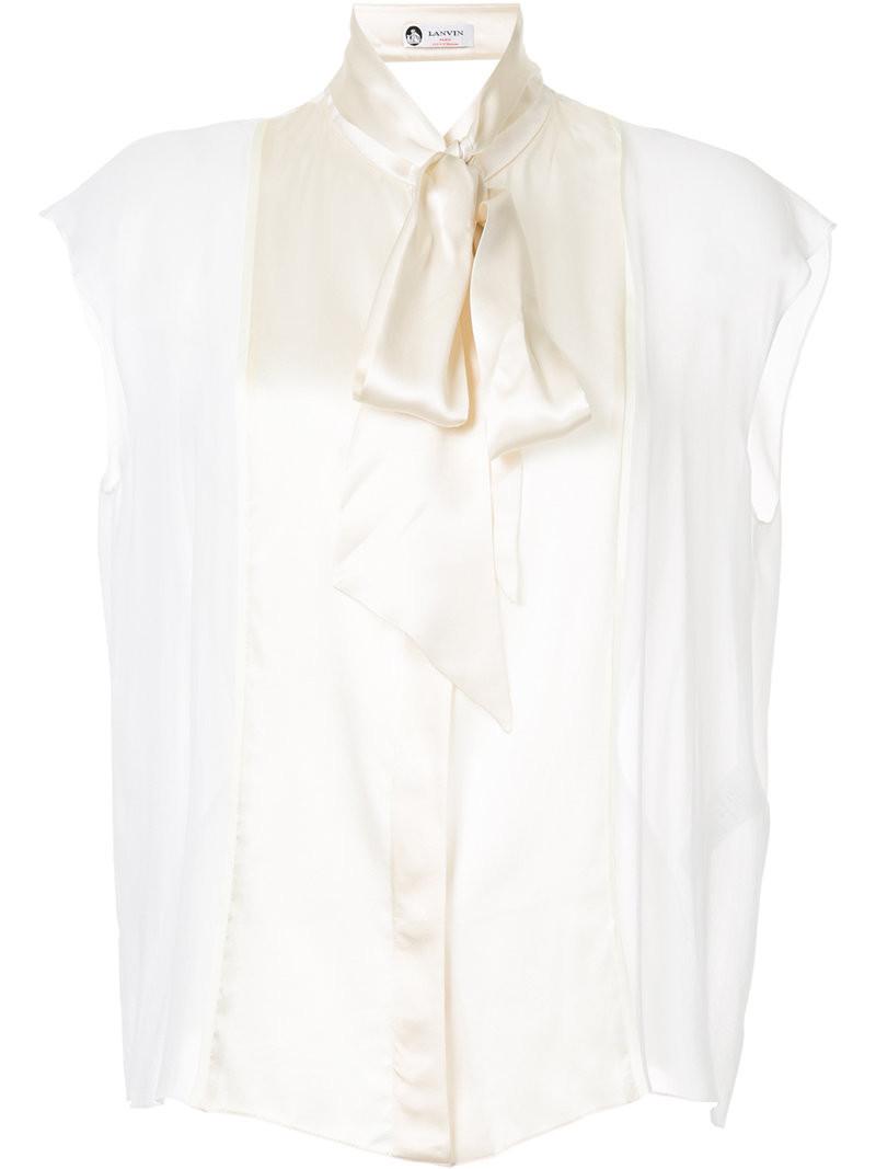 Шелковая Блузка С Бантом Купить