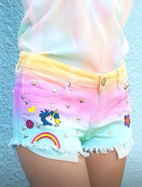 shorts colorful shorts grunge nike stars colorful unicorn shirt