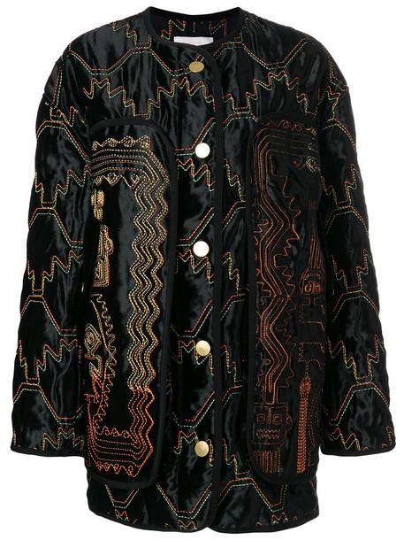 Peter Pilotto jacket bomber jacket women cotton black silk