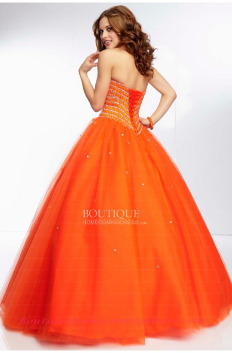Ball gown tulle quinceanera dress