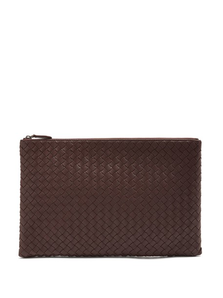 pouch leather burgundy bag
