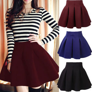 Pleated High Waisted Skirt - Dress Ala