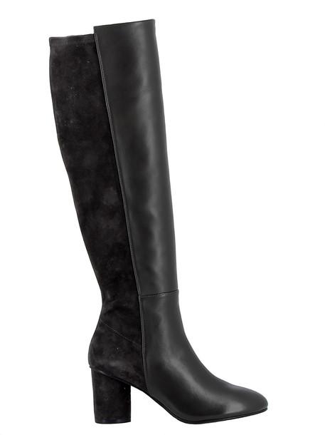 Stuart Weitzman Grey Leather-suede Boots