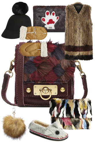 queen of jet lags blogger bag furry pouch