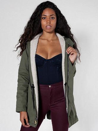 jacket american apparel clothes coat winter coat jeans