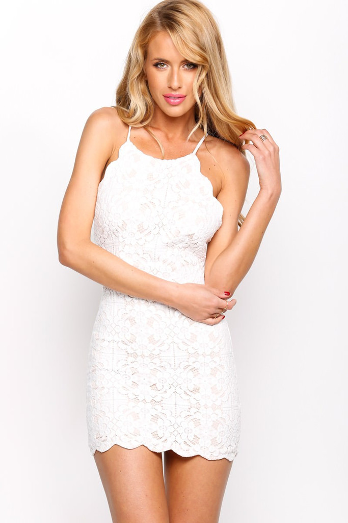 """""""young love"""" meryl flower crochet dress (2 colors available) – glamzelle"""