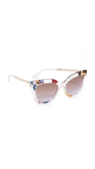 sunglasses gold brown violet
