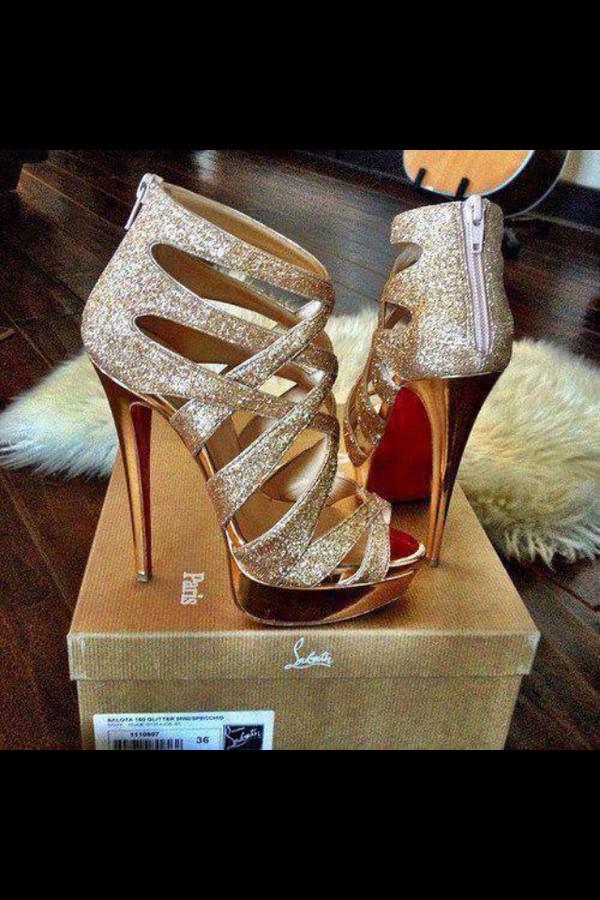 cheap christian louboutin loafers - Christian Louboutin Balota 120 glitter-finish multi-strap sandals ...