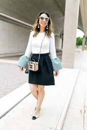styleofsam,blogger,top,skirt,jeans,shoes,pretty skirt,shiny skirt,silk skirt,satin skirt,nylons