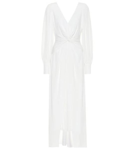 Self-Portrait Jersey midi dress in white