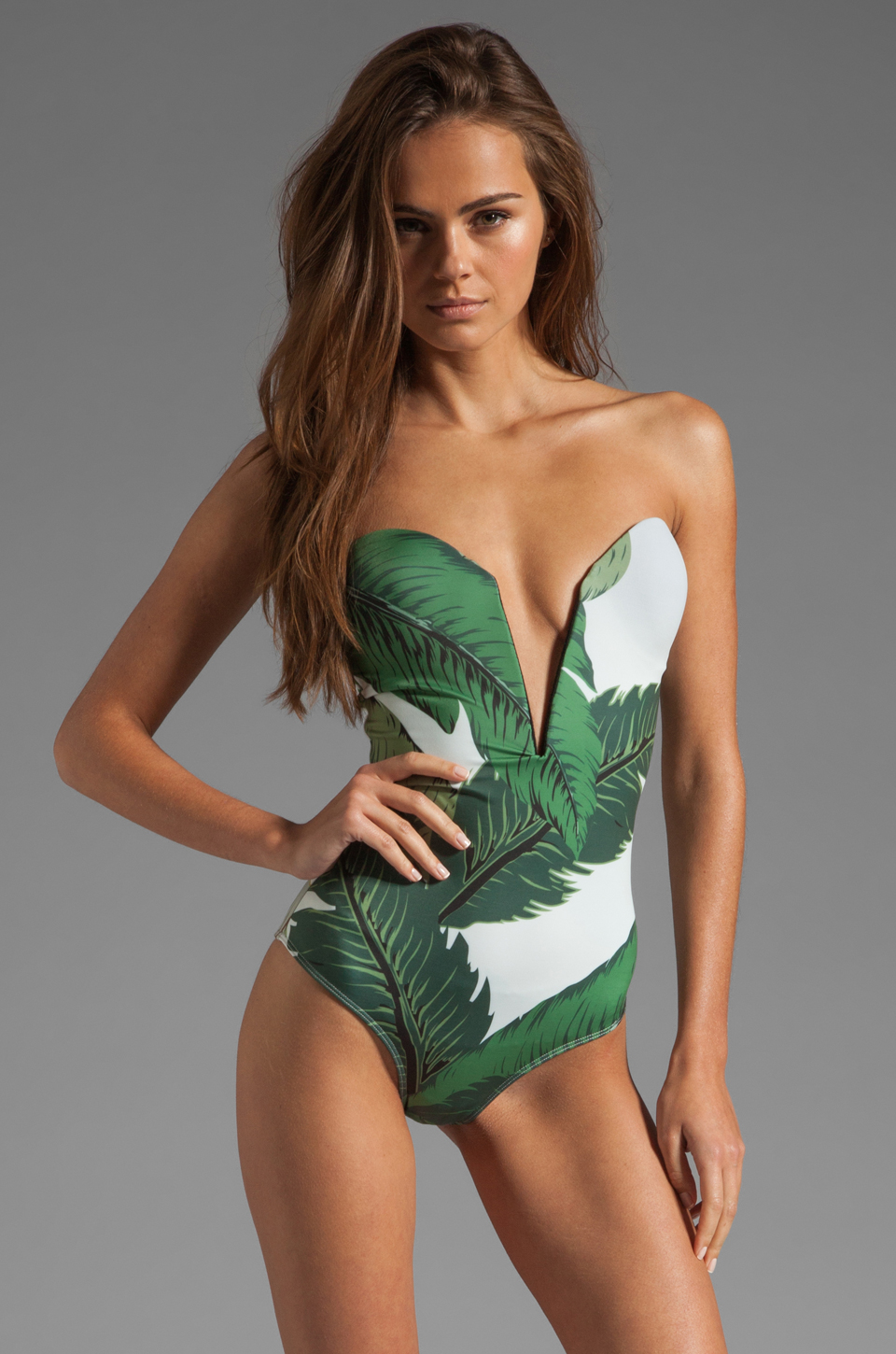 Beach riot // stone_cold_fox gally cook one piece in palm print from revolveclothing.com