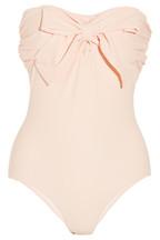 Miu Miu|Bow-embellished bandeau swimsuit|NET-A-PORTER.COM