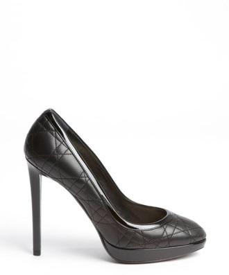 shoes christian dior dior pumps black black heels leather