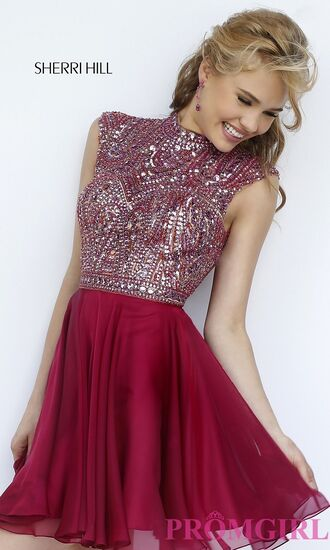 dress red dress red red prom dress prom prom dress prom gown homecoming homecoming dress homecoming dress beads short homecoming dress short prom dress diamonds ruby maroon/burgundy maroon dress graduation halter dress beaded short dresses
