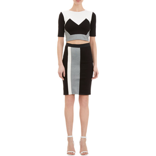 Mason by michelle mason geometric colorblock crop top at barneys.com