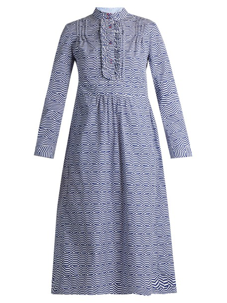 THIERRY COLSON dress cotton blue