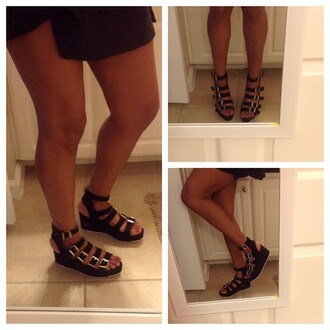 shoes qupid flatforms sandals buckles zooshoo