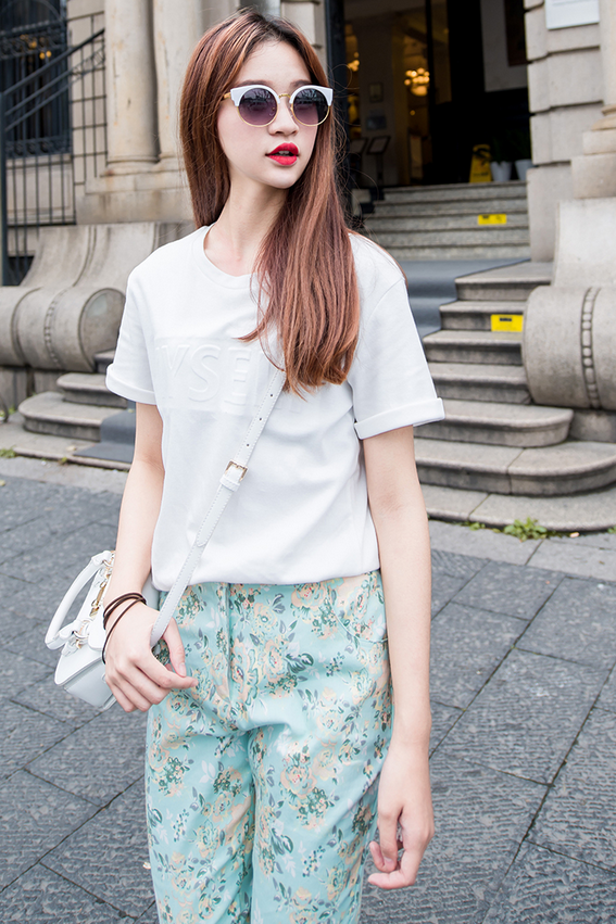Shalex Floral Print Trousers | SHALEX.NET