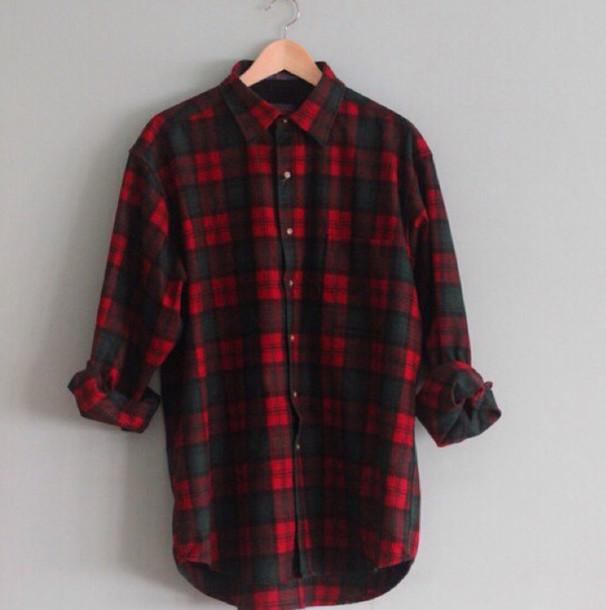 Shirt Flannel Red Black Flannel Shirt Wheretoget