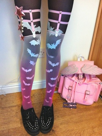 tights pastel pastel goth dope rainbow kawaii style pants shoes