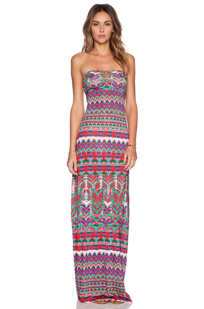 dress bohemian dress long dress aztec summer outfits summer dress aztec dress shoulderless dress