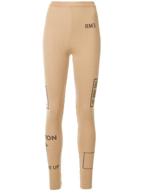 Moschino leggings women nude wool pants