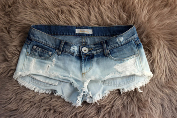 shorts girl blue denim ombre ombre shorts