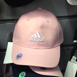 hat adidas snapback pale pastel pink pink cap urban pastel pink