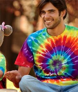 Dye adult rainbow swirl tie
