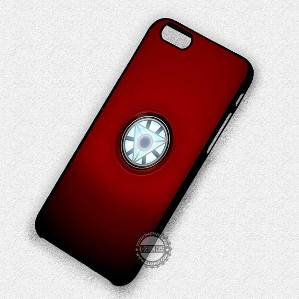 Arc Reactor Iron Man Red background - iPhone 7 6 SE Cases