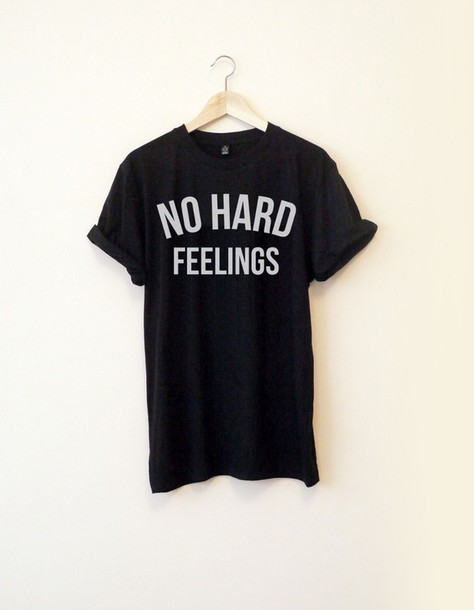 t-shirt graphic tee tie dye no hard feelings black t-shirt quote on it