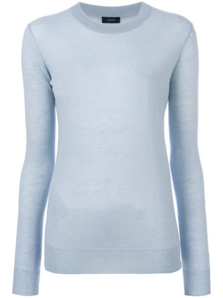 Joseph jumper cashmere jumper women blue sweater