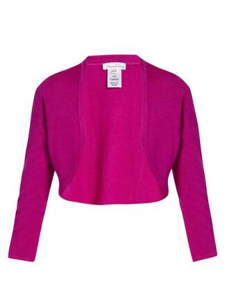 cardigan cropped silk pink sweater