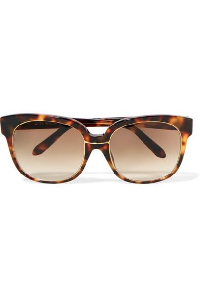 Linda Farrow - Oversized Square-frame Tortoiseshell Acetate And Gold-plated Sunglasses
