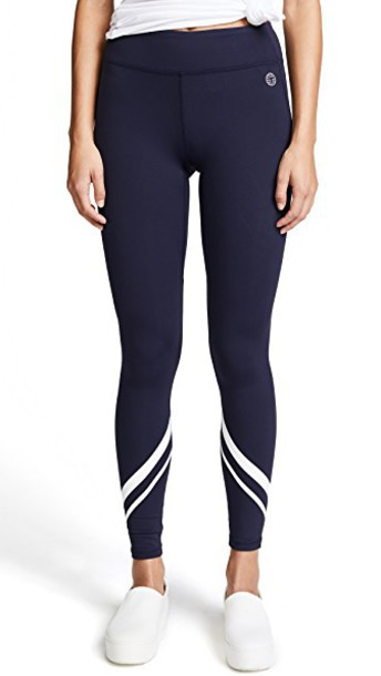 Tory Sport leggings full length chevron navy pants
